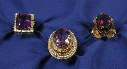 Three Amethyst Rings