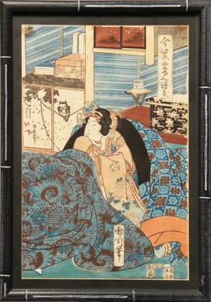 Set of six Japanese woodblocks