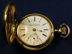 18kt Gold Hunting Case Pocket Watch Illinois Watch Co