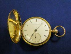 Antique 18kt Gold Hunting Case Pocket Watch American Watch Co