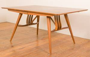 Wood Veneer Modern Dining Table w Leaves