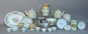 Misc pottery and porcelain to include Chinese export