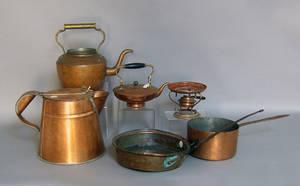 Five pcs of misc pcs of copper