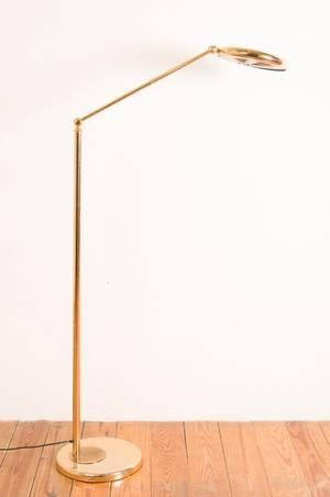 Italian Relco MidCentury Modern Brass Floor Lamp
