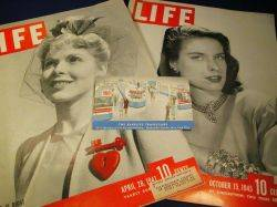 Postcard from The Bakelite Travelcade and Three Issues of Life Magazine