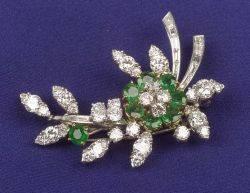 Emerald and Diamond Brooch Van Cleef  Arpels