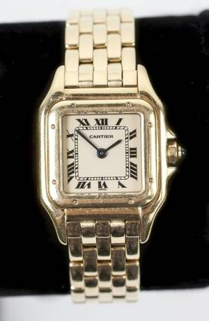 Ladies Cartier 18k Yellow Gold Panthere Watch