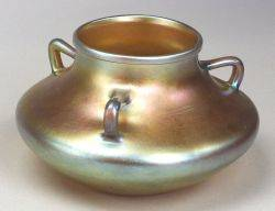 Steuben Gold Aurene ThreeHandled Vase