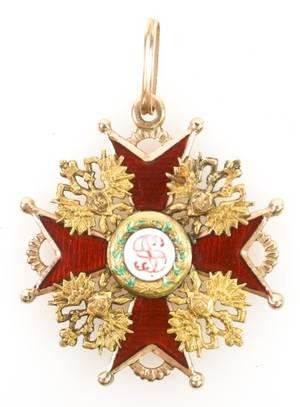 Russian Order of St Stanislaus Circa 18821905