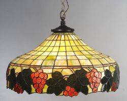 Leaded Glass Chandelier Shade