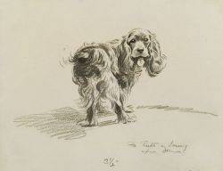 Burt Morgan Dennis American 18921960 Lot of Two Drawings of Dogs Welcome to Cape Cod