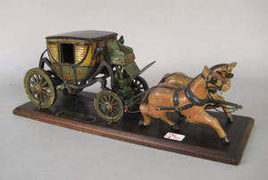 Carved and painted model of George Washingtons carriage