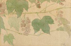 Elmer Livingston MacRae American 18751953 Lot of Two Watercolors Including Grape Vine and Magnolia