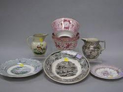 Eight Pieces of English Ceramic Tableware