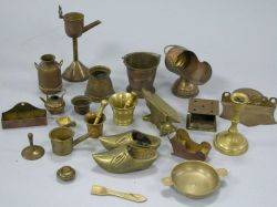 Collection of Miniature Brass and Bronze Decorative Items