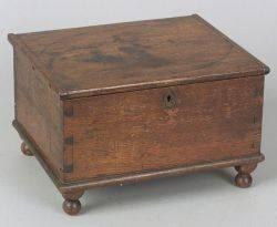Small Mahogany Storage Box