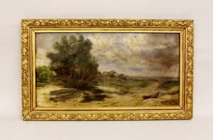 Oil on Canvas of an Oceanside Village