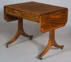 George III Mahogany Inlaid Sofa Table