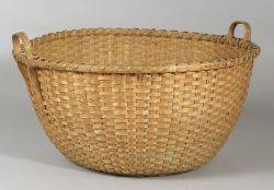 Large Round Shaker Woven Splint Basket
