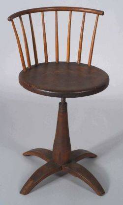 Shaker Maple Birch and Pine Revolving Chair