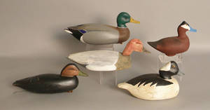 Group of five decoys