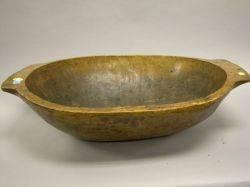 Large Hewn Wood Chop Bowl