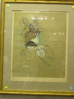 Framed Reproduction Print after Lautrec