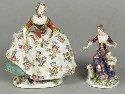 Two German Porcelain Figures of Ladies