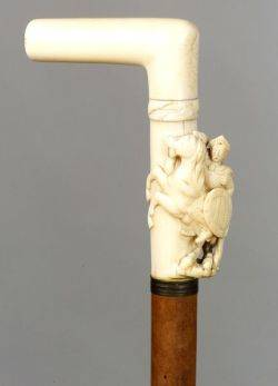 AustroHungarian Carved Ivory Cane
