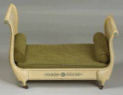 French Empirestyle Painted Settee de Chien