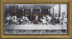 French Grisaille Enamel Panel Depicting the Last Supper