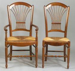 Set of Six French Provincial Style Dining Chairs