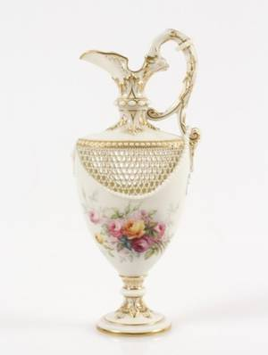 Royal Worcester Reticulated Ewer by Owen  Chair