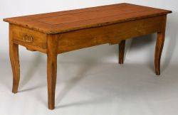 French Provincial Fruitwood Kitchen Table