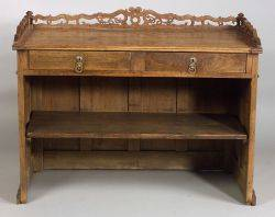 French Provincial Oak Kitchen Counter