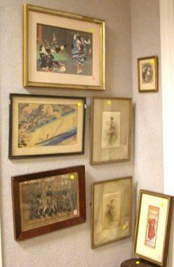 Seven Framed Prints