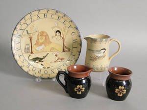 Five pcs of Nancy Anderson pottery