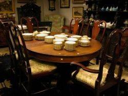 Empire Revival Mahogany Pedestal Dining Table