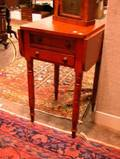 Late Federal Pine Dropleaf TwoDrawer Work Stand