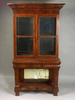 American Classical Mahogany Bookcase on Stand