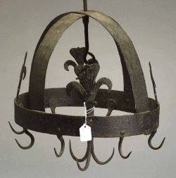 French Wrought Iron Kitchen Hanging Rack