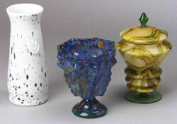 Three Czechoslovakian Glass Pieces