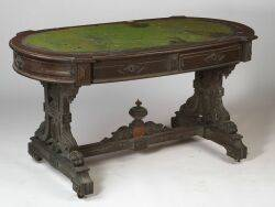 American Renaissance Revival Walnut Center Table