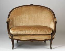 Pair of Louis XV Style Beechwood Canapes