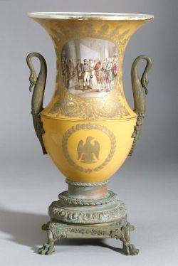 Sevrestype Porcelain and Bronze Mounted Urn
