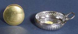 French 950 Silver Wine Taster and an English Brass Snuff Box