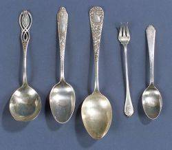 Group of American Sterling Flatware Items