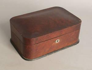 Victorian walnut lap desk