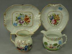 Two Newhall Porcelain Trays and Two Jugs