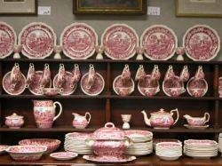 135Piece Masons Red and White and Copeland Spodes Tower Transfer Decorated Pattern Assembled Dinner Service